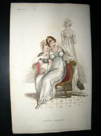 Ackermann 1811 Regency Fashion Print. Evening Dresses